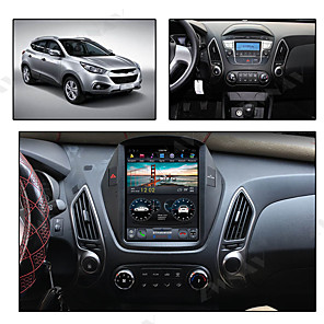 cheap Car DVD Players-ZWNAV 10.4inch 1din 4GB 64GB Tesla style Android 8.1 Car DVD Player GPS Navigation radio tape recorder stereo car multimedia player IPS For Hyundai IX35 2018-2019