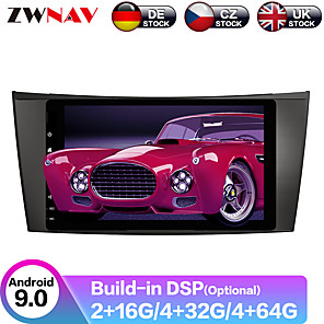 cheap Car DVD Players-ZWNAV 8inch 2din 4GB 64GB DSP Android 9.0 Car MP5 Player GPS navigation car Multimedia Player radio tape recorder For Benz W211/W219/W463 2002-2009