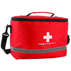 cheap Kids' Flats-Oxford Cloth Zipper Emergency Survival Bag Solid Color Daily Red