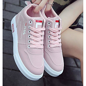 cheap Car DVD Players-Women's Sneakers Flat Heel Closed Toe PU Summer Pink / Black / Gray