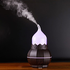 cheap LED Smart Home-Gourd Pear Shape Aroma Lamp Humidifier Night Light USB Home Bedroom Air Purifier Creative Decoration