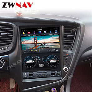 cheap Car DVD Players-ZWNAV 12.1inch 1din 4GB 64GB Tesla style Android 8.1 Car GPS Navigation car stereo Multimedia player car DVD Player For KIA Optima / KIA K5 2010-2013