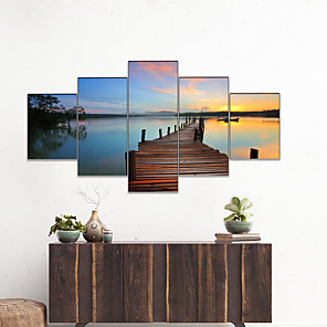 cheap Prints-AMJ Hot Selling Pier Landscape Pentathlon Living Room Sofa Background Wall Decoration Canvas Picture Frameless Core