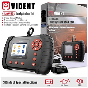 cheap OBD-VIDENT iLink440 Four System Scan Tool Support Engine ABS Air Bag SRS EPB Reset Battery Configuration
