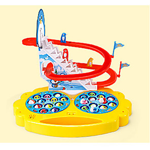 cheap Reborn Doll-Fishing Toy Rotating Fishing Toy ABS Penguin Fish Electric Parent-Child Interaction 2 Players Kid's Toys Gifts