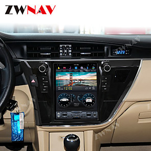cheap Car DVD Players-ZWNAV 10.4Inch 1din 4GB 64GB Tesla style Android 8.1 Car GPS Navigation Car Auto multimedia player Car MP5 Player radio tape recorder For Toyota Corolla 2014-2017