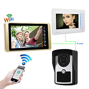 cheap Mobile Signal Boosters-Wired & Wireless 7 inch Hands-free 1024*600 Pixel One to Two video doorphone