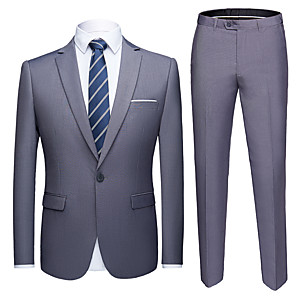 cheap Wii Accessories-Tuxedos Tailored Fit Slim Notch Single Breasted One-button Polyester Solid Colored / British / Fashion