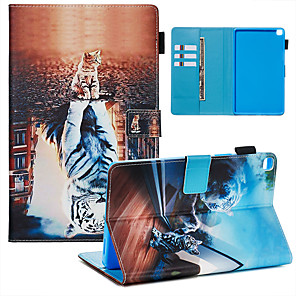 cheap Samsung Case-Case & Pen For Samsung Galaxy Samsung Tab A 8.0(2019)/ E 8.0 /A 7.0 / A8(2019)P200/205 Dustproof / with Stand / Flip Back Cover cat&tiger PU Leather