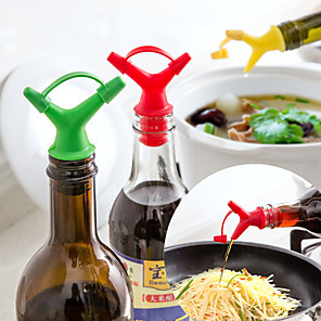 cheap Coffee and Tea-2pcs Double Headed Soy Sauce Oil Bottle Mouth Cork Pouring Device Wine Cork Seasoning Inverted Nozzle Liquid Fluid Director
