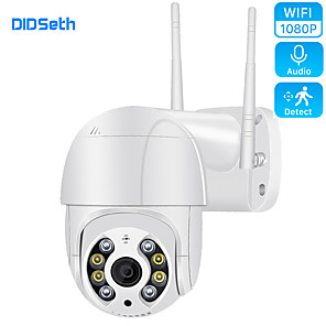 cheap Outdoor IP Network Cameras-DIDSeth Wifi PTZ IP Camera 1080P 2MP Super HD 4X Zoom Two Way Audio Wireless AI Human Detection IP66 OutdoorHome Security Cam