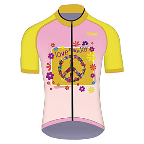 cheap Cycling Jerseys-21Grams Men's Women's Short Sleeve Cycling Jersey Pink Funny Bike Jersey Top Mountain Bike MTB Road Bike Cycling UV Resistant Breathable Quick Dry Sports Clothing Apparel / Stretchy / Race Fit