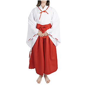 cheap Anime Costumes-Inspired by InuYasha Kikyo Anime Cosplay Costumes Japanese Cosplay Suits Costume For Women's