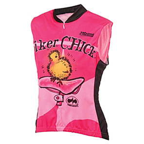 cheap Cycling Jerseys-21Grams Women's Sleeveless Cycling Jersey Cycling Vest Fuchsia Bird Bike Jersey Top Mountain Bike MTB Road Bike Cycling UV Resistant Breathable Quick Dry Sports Clothing Apparel / Stretchy / Race Fit