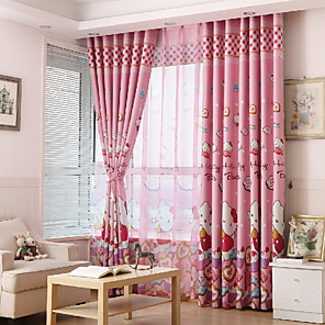 cheap Curtains Drapes-Gyrohome 1PC GYC2164 Pink Cats Shading High Blackout Curtain Drape Window Home Balcony Dec Children Door *Customizable* Living Room Bedroom Dining Room