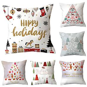 cheap LED String Lights-6 pcs Throw Pillow Simple Classic 45*45 cm Cushion Vintage Circle Cover Sofa Home Decor Throw Pillow Case