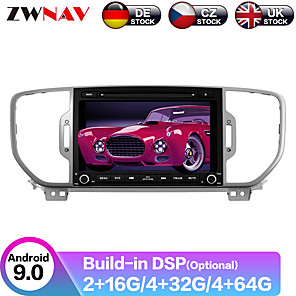 cheap Car DVD Players-ZWNAV 9inch 1din 4GB 64GB Android 9 Octa Core car dvd player Car gps navigation radio tape recorder stereo for KIA sportage 2016 KX5