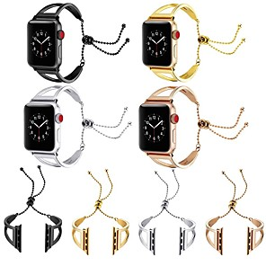 cheap Smartwatch Bands-Watch Band for Apple Watch Series 5 / Apple Watch Series 4 / Apple Watch Series 3 Apple Jewelry Design Stainless Steel Wrist Strap