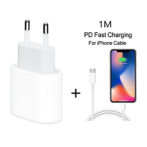cheap Charger Kit-Quick Charge 4.0 3.0 QC PD Charger 18W QC4.0 QC3.0 USB Type C Fast Charger for iPhone 11 X Xs 8 iPhone PD Charger