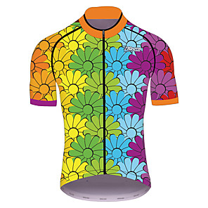 cheap Cycling Jerseys-21Grams Men's Women's Short Sleeve Cycling Jersey Blue+Green Gradient Bike Jersey Top Mountain Bike MTB Road Bike Cycling UV Resistant Breathable Quick Dry Sports Clothing Apparel / Stretchy