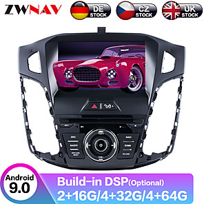 cheap Car DVD Players-ZWNAV 8inch 2din Android 9.0 4GB 64GB Car GPS Navigation Car DVD Player car Multimedia Player car stereo auto audio player For Ford Focus III 2012-2014