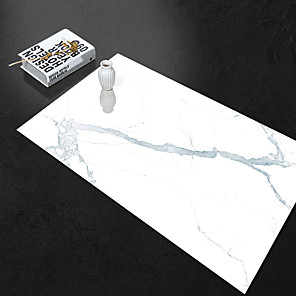 cheap Wall Stickers-Self-adhesive Marble Floor Tile Wall Sticker PVC Oil-proof Waterproof for Home Living Room Bedroom Kitchen Bathroom 60*90cm