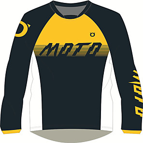 cheap Door Locks-MOTO GP motorcycle jersey Shirts & Tops Breathable / fast dry / Sunscreen  yellow black long-sleeved T-shirt locomotive motorcycle Jersey
