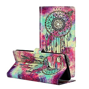 cheap Samsung Case-Case For Samsung Galaxy Galaxy A20e / Galaxy Note 10 / Galaxy Note 10 Plus Wallet / Card Holder / with Stand Full Body Cases Feathers PU Leather