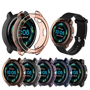 cheap Smartwatch Bands-TPU Transparent Protective Case Cover Frame Protector Shell for Garmin Vivoactive 3 Music Smart Watch Wearable Accessories