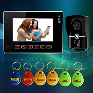 cheap Video Door Phone Systems-Wired 9 Inch Hands-free 800*480 Pixel One To One Video Doorphone