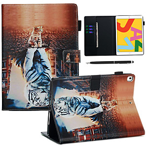 cheap iPad case-Case For Apple iPad Pro 10.5 / Ipad air3 10.5' 2019 with Stand / Flip / Ultra-thin Back Cover Animal PU Leather