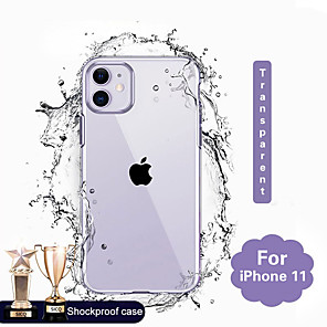 cheap iPhone Cases-Case For Apple iPhone 11 / iPhone 11 Pro / iPhone 11 Pro Max Transparent Back Cover Transparent TPU