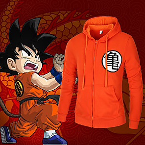 cheap Anime Costumes-Inspired by Dragon Ball Cosplay Anime Cosplay Costumes Japanese Cosplay Hoodies Top For Men's