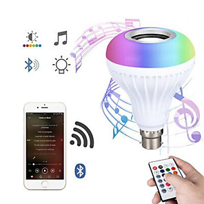 cheap Ring light-Bluetooth Light Bulb Speaker 12W Smart LED Music Play Bulb E27 E26 B22 BaseColorfulWireless RGB LED Light Bulbs With 24 Keys Remote Control for Bar Decoration Home KTV Party Restaurant