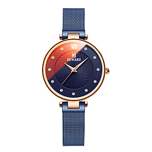cheap Quartz Watches-Women's Steel Band Watches Elegant Fashion Stainless Steel Japanese Quartz Rose Gold Golden+White Red Water Resistant / Waterproof 30 m 1 pc Analog One Year Battery Life