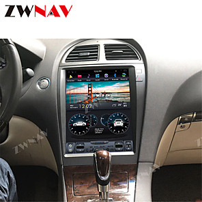 cheap Bluetooth Car Kit/Hands-free-ZWNAV 12.1inch 1din 4GB 64GB Tesla style Android 8.1 Car GPS Navigation car multimedia player Car MP5 Player radio tape recorder For Lexus ES250 ES300 ES330 ES350 ES300H