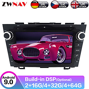 cheap Car DVD Players-ZWNAV 8inch 2din 4GB 64GB Android 9 Car DVD Player GPS navigation Car multimedia player radio tape recorder auto For Honda CRV CR-V 2006-2011