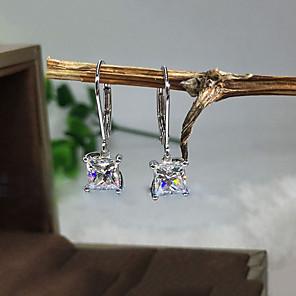 cheap Earrings-Women's Clear Cubic Zirconia Earrings Classic Mini Sweet Earrings Jewelry White For Party Street 1 Pair