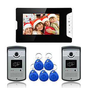 cheap Video Door Phone Systems-Wired 7 Inch Hands-free 800*480 Pixel Two To One Video Doorphone
