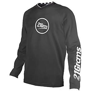 cheap Cycling Jerseys-21Grams Men's Long Sleeve Cycling Jersey Downhill Jersey Dirt Bike Jersey Spandex Polyester Black / White Bike Jersey Top Mountain Bike MTB Road Bike Cycling UV Resistant Breathable Quick Dry Sports
