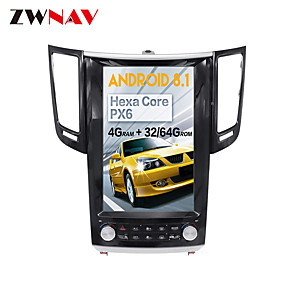 cheap Car DVD Players-ZWNAV 12.1inch 1din Car Multimedia player Car MP5 Player Tesla style Android 8.1 Car GPS Navigation radio tape recorder For Infiniti FX FX25 FX35 FX37 qx70