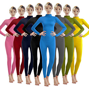 cheap Dog Clothes-Zentai Suits Cosplay Costume Catsuit Adults' Spandex Lycra Cosplay Costumes Sex Men's Women's Solid Colored Halloween Carnival Masquerade / Skin Suit / Leotard / Onesie / Leotard / Onesie