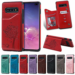 cheap Samsung Case-Case For Samsung Galaxy S9/S9P/S10/S10P/S10E/S10 5G Card Holder / Shockproof /  Cartoon PU Leather