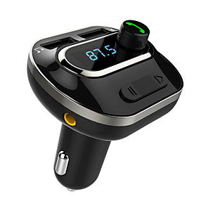 cheap Car FM Transmitter/MP3 Players-T19 Bluetooth FM Transmitter Acekool Wireless Car FM Transmitter Radio Adapter Receiver with Dual-USB Car Charger Hands Free Calling USB Flash Driver to Play MP3 Files