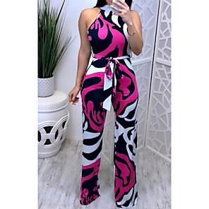 cheap Clutches & Evening Bags-Women's Basic Purple Jumpsuit Onesie, Geometric S M L