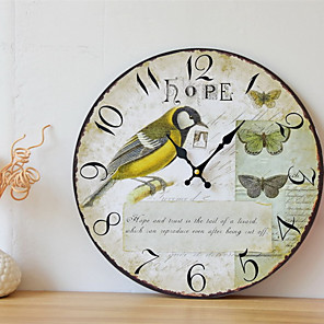 cheap Smartwatches-1pcs Retro Country Bird Wall Decoration Frameless Painting Wall Clock