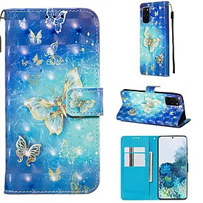 cheap Samsung Case-Case For Samsung Galaxy A40S/Galaxy A30S/Galaxy A50s Wallet / Card Holder / with Stand Full Body Cases Butterfly PU Leather For Galaxy A51/A71/S20/S20 Plus/S20 Ultra/A10S/A20S