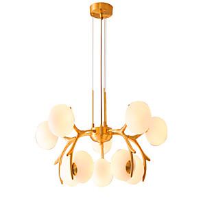 cheap Pendant Lights-ZHISHU 10-Light 73 cm Dimmable Chandelier Copper Glass Sputnik / Globe Brass Artistic / Nordic Style 110-120V / 220-240V
