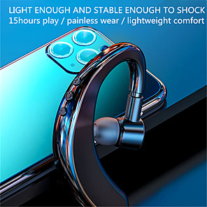cheap Wired Earbuds-Single Ear Bluetooth Wireless  5.0 Earphones Stereo Ear Hook Sports Headset Handsfree With Microphone Business Driving Headphones