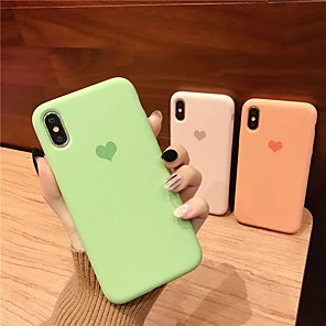 cheap iPhone Cases-Case For Apple iPhone 11 / iPhone 11 Pro / iPhone 11 Pro Max Shockproof Back Cover Heart / Solid Colored TPU